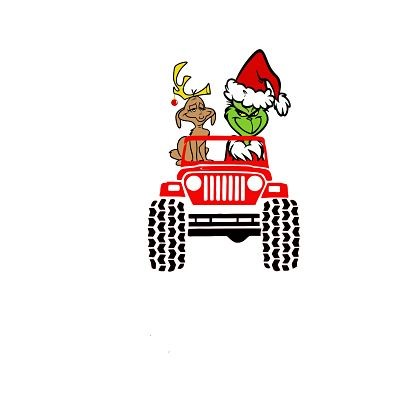 Sublimation Grinch Jeep