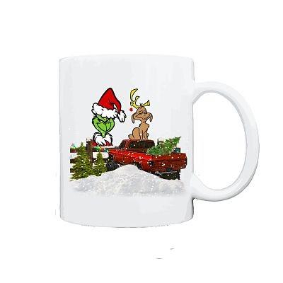 Grinch & Max Christmas Mug