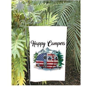USA Camper Garden Flag
