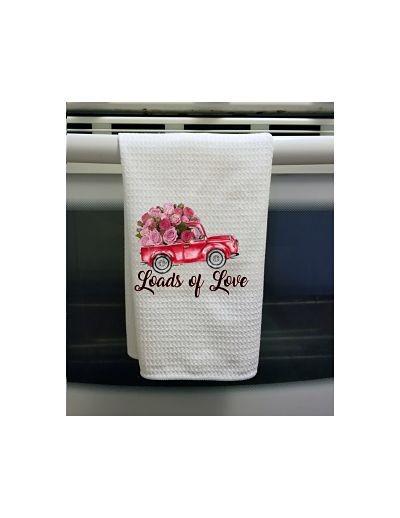 Loads of Love Waffle Tea Towel