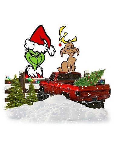 Grinch & Max on Red Truck