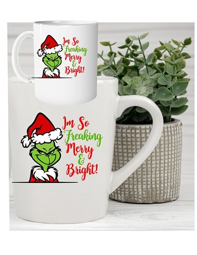 Grinch Merry & Bright Mug