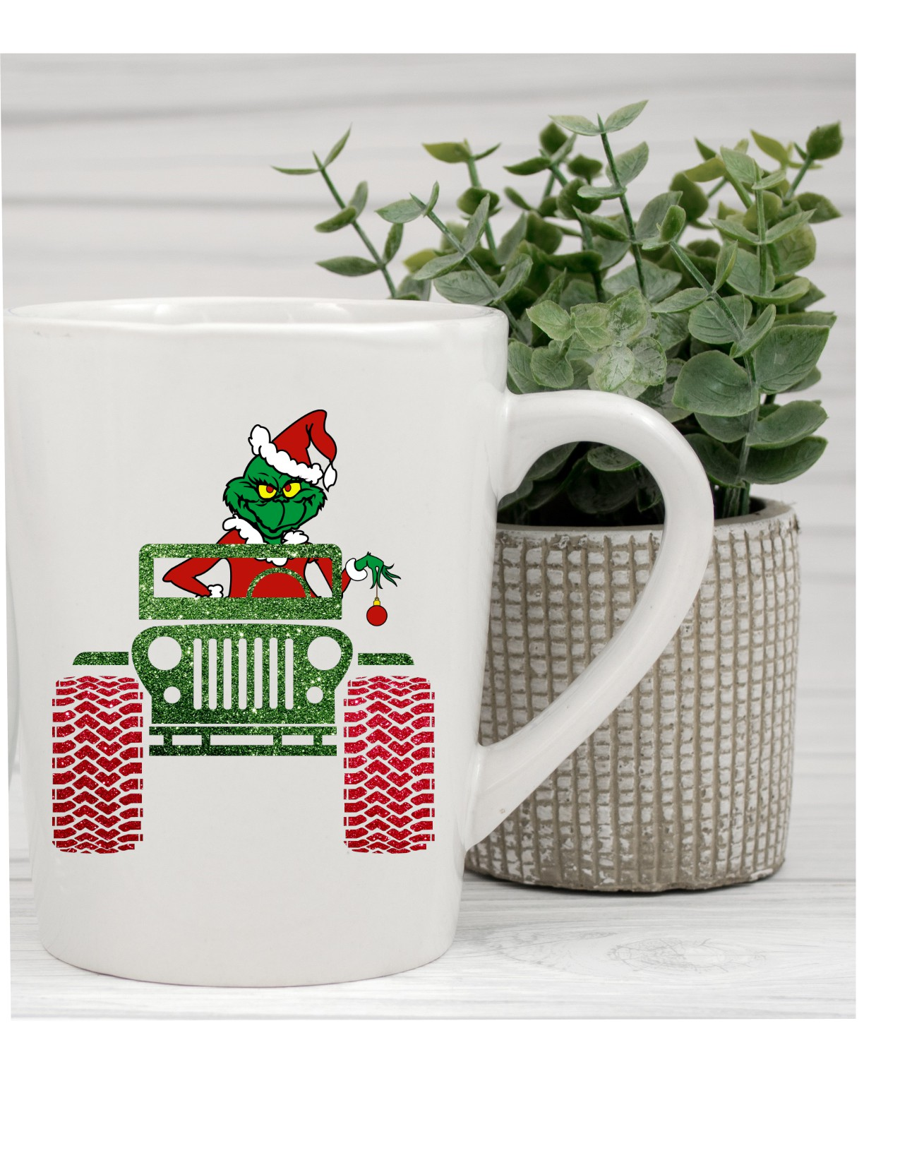 Grinch In A Jeep Coffee Mug/cup