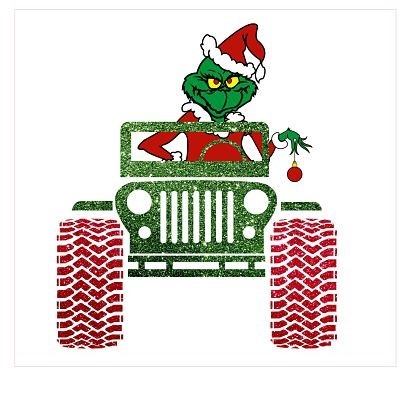 Grinch Jeep Sublimation Transfer