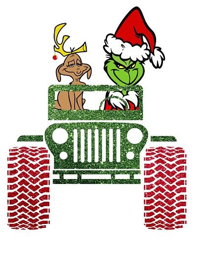Grinch & Max in Jeep