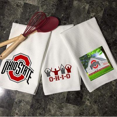 Ohio State Waffle  Kitchen Towel